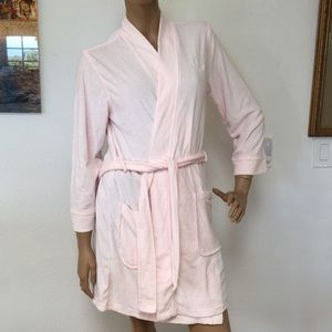 Ralph Lauren Baby Pink Terry Short Bathrobe Robe S